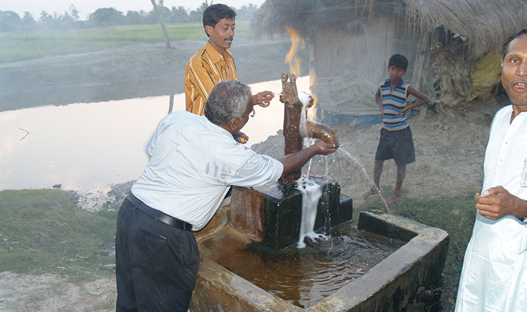 blessing for the new water supply